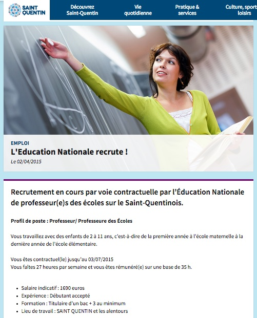 recrutement contractuelle