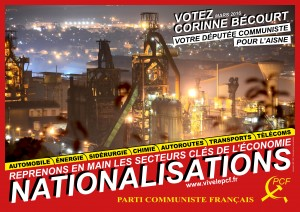 affiche nationalisation elec