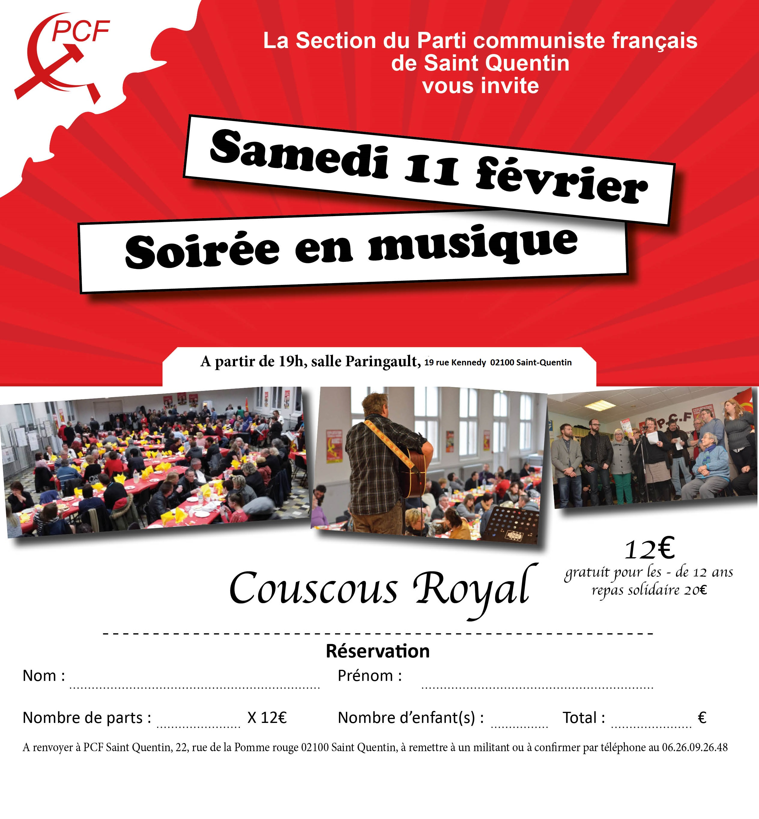invitation soiree couscous 2017