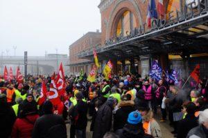 Manifestation st quentin 5 decembre 2019
